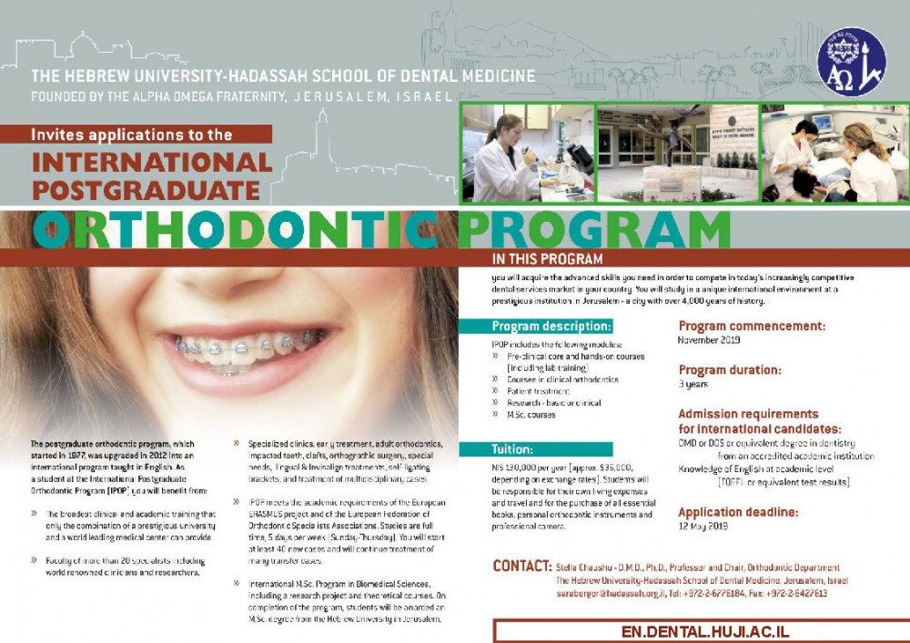 Orthodontics | Faculty of Dental Medicine