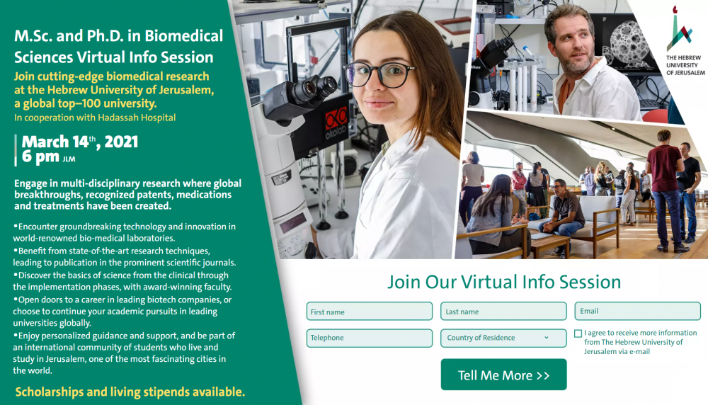M.Sc. and Ph.D. in Biomedical Sciences Virtual Info Session